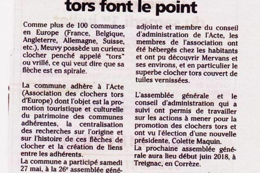 A .G. relatée dans le journal Haute Marne