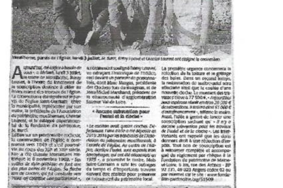 Mouliherne article souscription