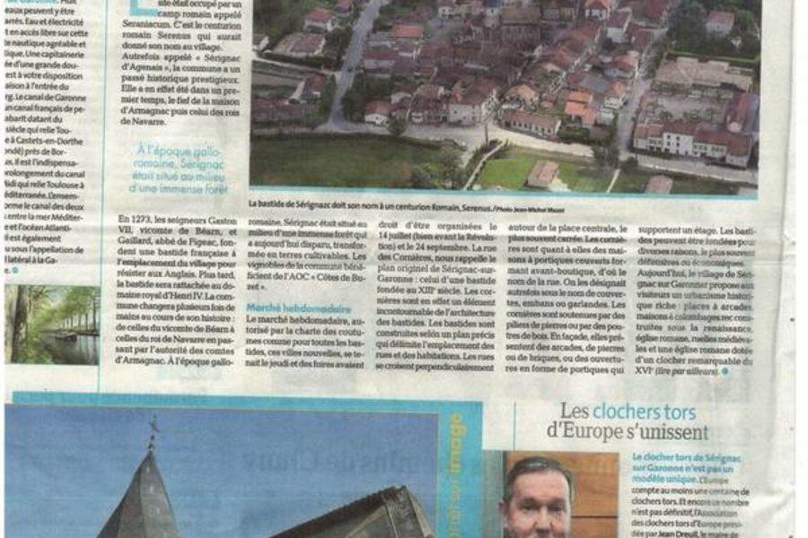 Article Sérignac dans le Petit Bleu